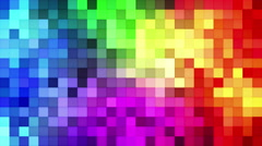 Colorful tiles mosaic loopable background 4k (4096x2304) Stock Footage