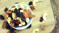 Trail Mix (not loopable 4K footage) Stock Footage
