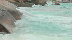 Turquoise rolling wave, slow motion Stock Footage
