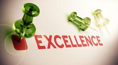 Achieving Excellence - stock illustration