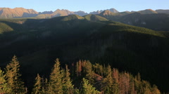 Tatra Mountains,Panorama of the polish mountains in the holiday, Zakopane - stock footage