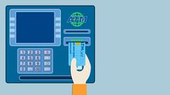 Concept of atm Stock Illustration