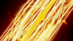 Tungsten filament of electric bulb - stock footage