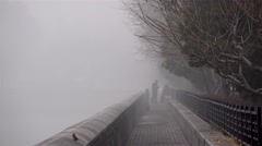 Tongzi River around Forbidden City in dense smog. Beijing, China. - stock footage