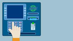 concept of atm - stock illustration