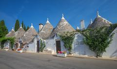 Traditional trulli houses, Alberobello, Puglia, Southern Italy - stock photo