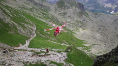 Tatra Mountains,Poland - Rescue helicopter in the tatra mountains Stock Footage