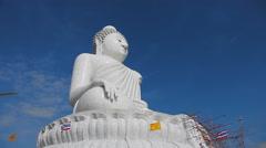 Big Buddha monument, timelapse Stock Footage