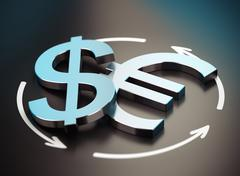 Euro and Dollar Symbol. EUR USD Pair Stock Illustration