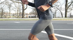 Black Male Jogger Stock Footage