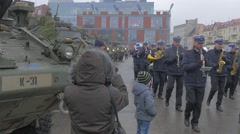 Atlantic Resolve Opole Military Orchestra Playing Music Soldiers Military Stock Footage