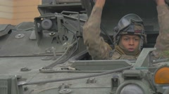 Atlantic Resolve Operation Poland Multinational Training Afro-American Soldier Stock Footage
