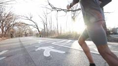 Runner Closeup Stock Footage