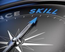 Skill Concept, Training - stock illustration