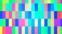 Broadcast Twinkling Hi-Tech Bars, Multi Color, Abstract, Loopable, 4K Stock Footage