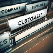 Customers Base or File Concept - stock illustration