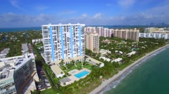 Birdseye view of Key Biscayne Florida 4k - stock footage