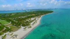Crandon Park Key Biscayne 4k aerial Stock Footage