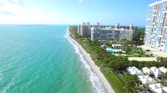 Aerial video Key Biscayne Bill Baggs Stock Footage