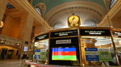New York City Grand Central station dolly steady gimbal shot - stock footage