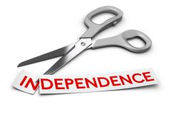 Dependence vs Independence, Addiction Stock Illustration