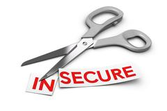Insecure vs Secure - Security Concept Stock Illustration