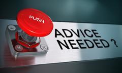 Urgent Advice, Problem Solving Stock Illustration