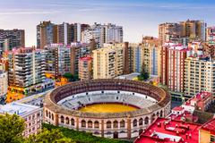 Malaga Spain Bullring Stock Photos