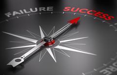 Be successful - Success vs Failure - stock illustration