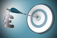 Pound Concept, Financial Adviser or Finance Advisory Stock Illustration