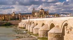 Cordoba, Spain skyline at the Mosque-Cathedral. Stock Footage