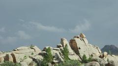 Rainy sky, mountains Bayanaul Stock Footage
