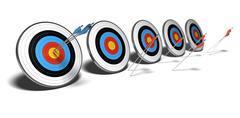 Winner - loser - risk management Stock Illustration