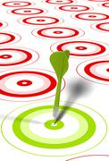 Hitting objectives or goals Stock Illustration