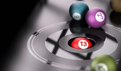 Gambling, Chance and Number 13 Stock Illustration