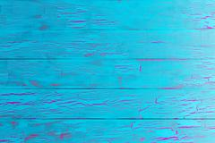 Crackle painted turquoise blue wood texture Stock Photos