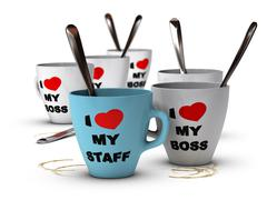 Staff Relations and Motivation, Workplace - stock illustration