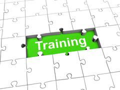Training puzzle - stock illustration