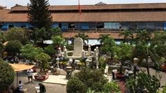 Binhn Tai market inner yard Stock Footage