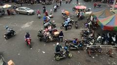 Timelapse view of Binh Tai market main square Stock Footage