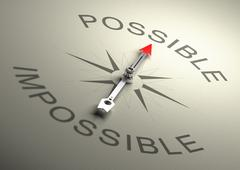Possible VS Impossible - stock illustration