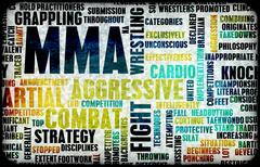 Stock Illustration of Mixed Martial Arts or MMA