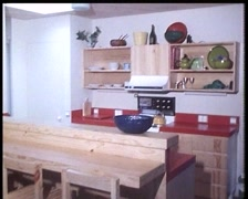 Interior of an Early 1980s Australian Home (Archive Footage) (3) Stock Footage