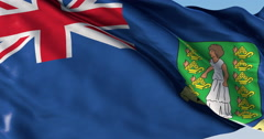 Ultra realistic looping flag: British Virgin Islands - stock footage