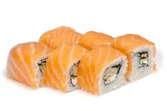 Various kinds of sushi and sashimi Stock Photos