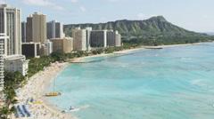 Hawaii Waikiki beach Honolulu Oahu Time lapse Stock Footage