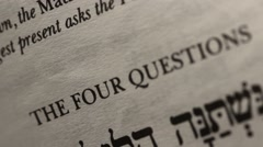 Passover Sedar Four Questions in Exodus Easter Stock Footage