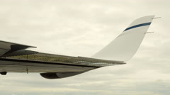 Airplane Wing Ailerons Turning Aircraft, Flap Up and Down Stock Footage