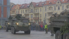 Panzers Are Driven Opole Poland Atlantic Resolve Operation Military Vehicles Stock Footage
