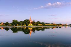 Mandalay Palace Moat Stock Photos